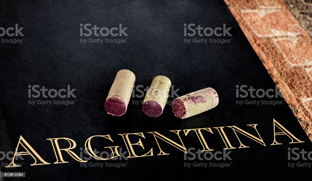 Red wine of Argentina stock photo