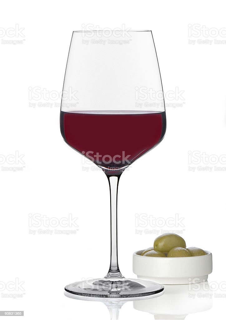Red Wine & Olives royalty-free stock photo