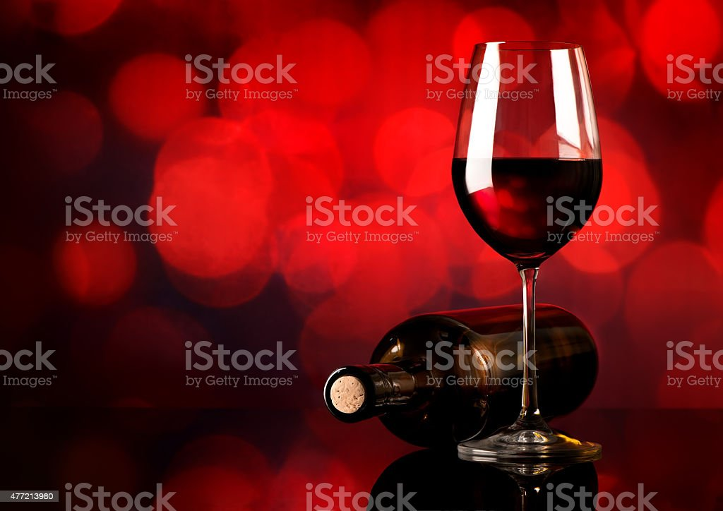Red wine on  background stock photo
