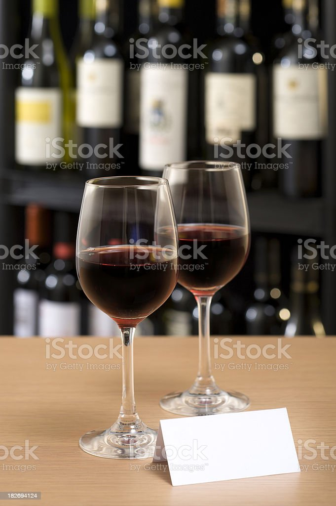 Red Wine on Display royalty-free stock photo