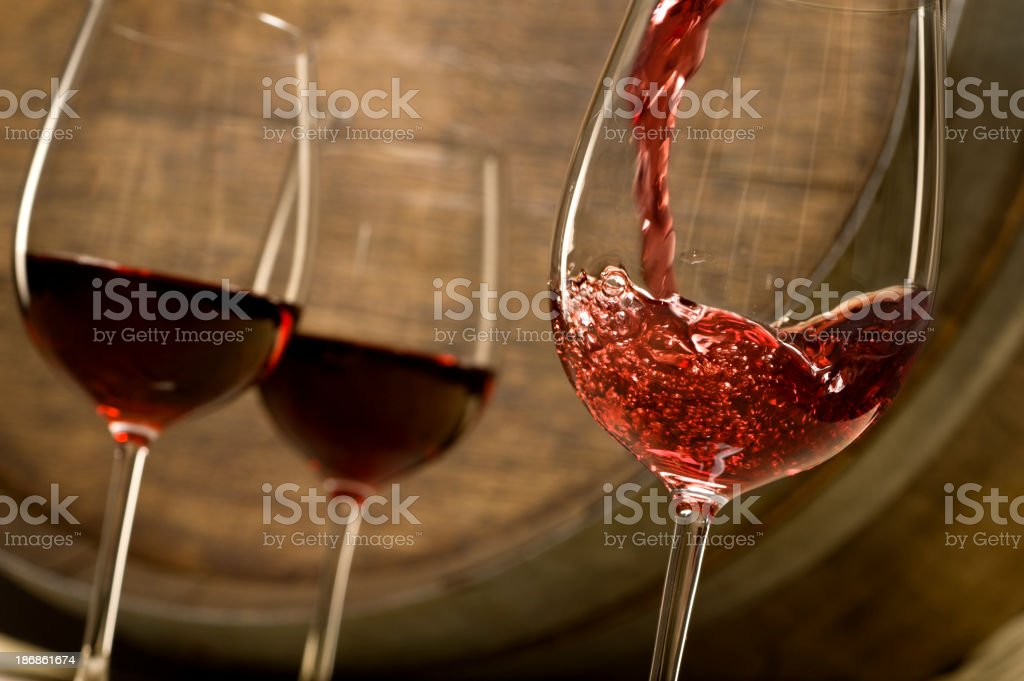 Red Wine Pour stock photo