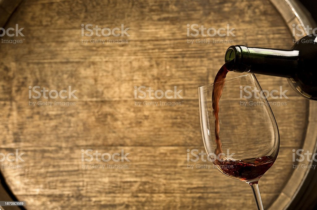 Red Wine Pour royalty-free stock photo