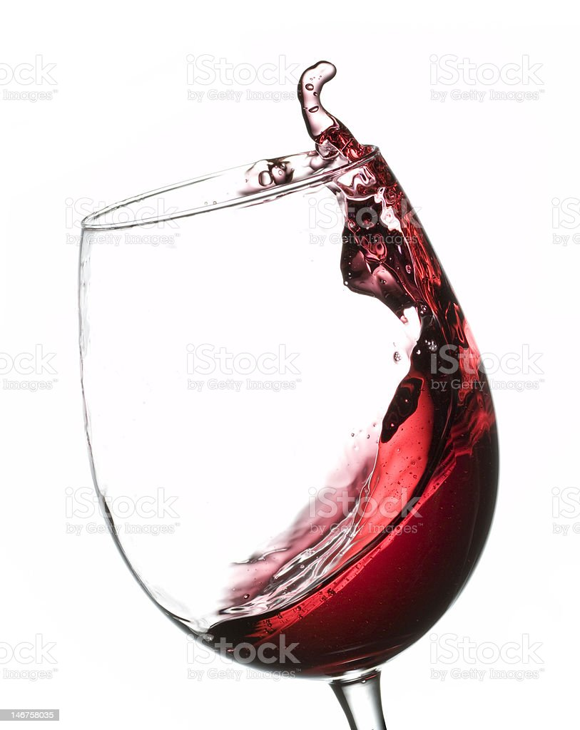 Red Wine Pouring royalty-free stock photo