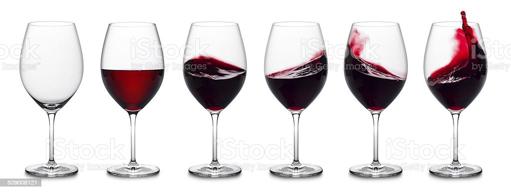 Red wine splash collection stock photo