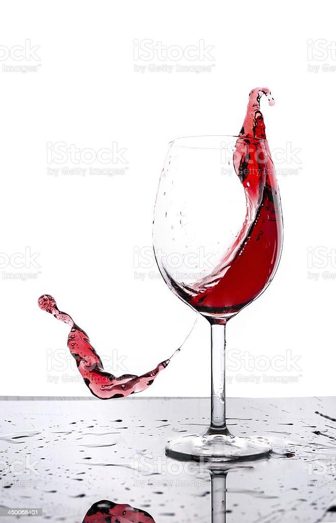 Red wine splash royalty-free stock photo