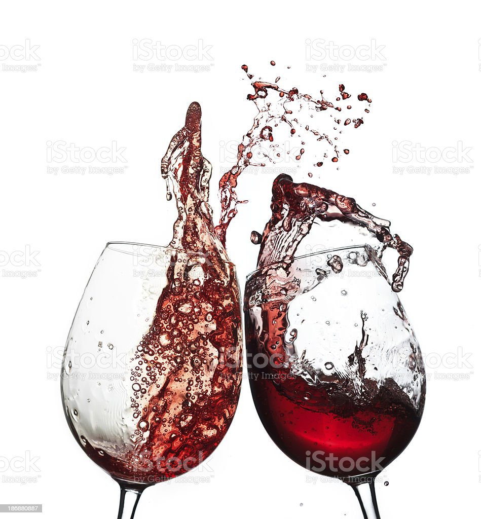 Red wine splashing royalty-free stock photo