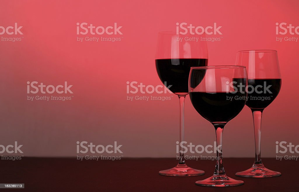 Red Wine Trio royalty-free stock photo