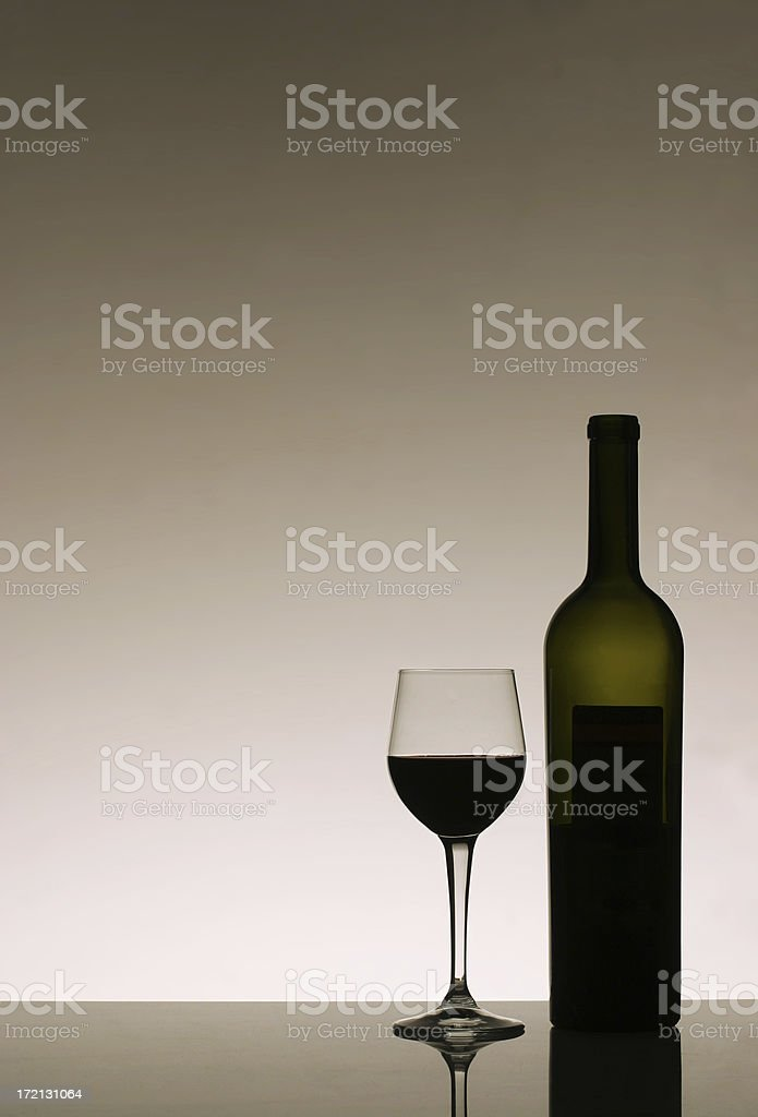 Red Wine with CopySpace royalty-free stock photo