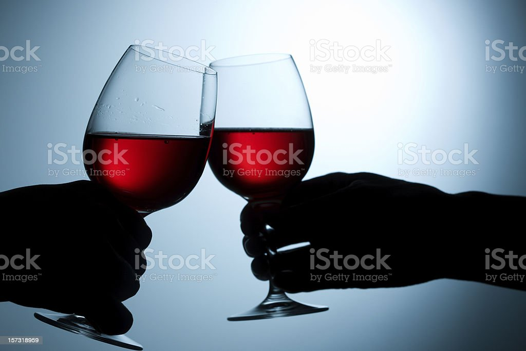 red wineglasses royalty-free stock photo