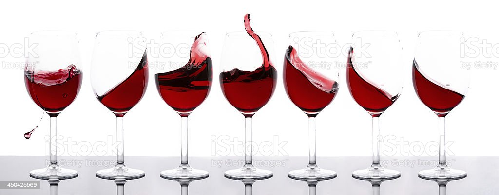 red wines in a row royalty-free stock photo