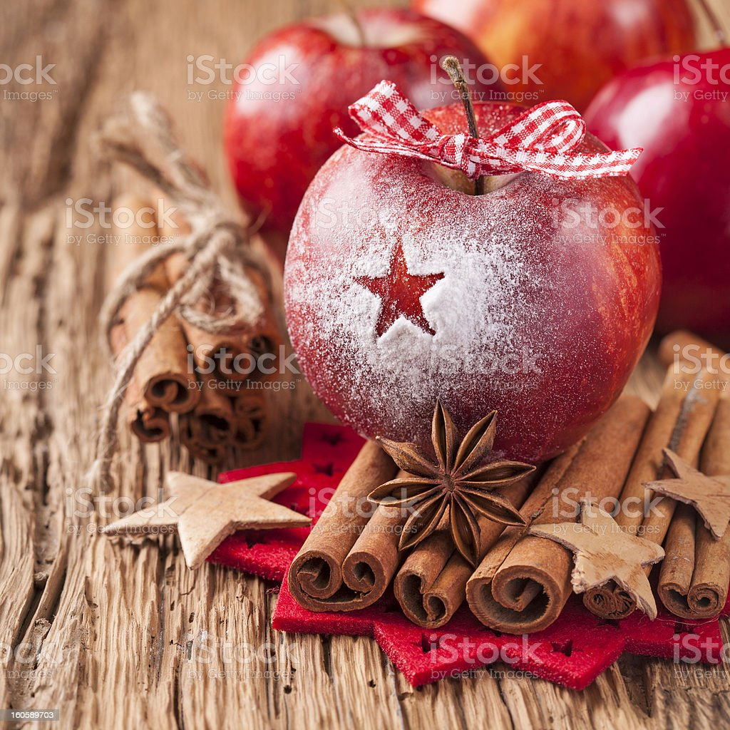 Red winter apples royalty-free stock photo