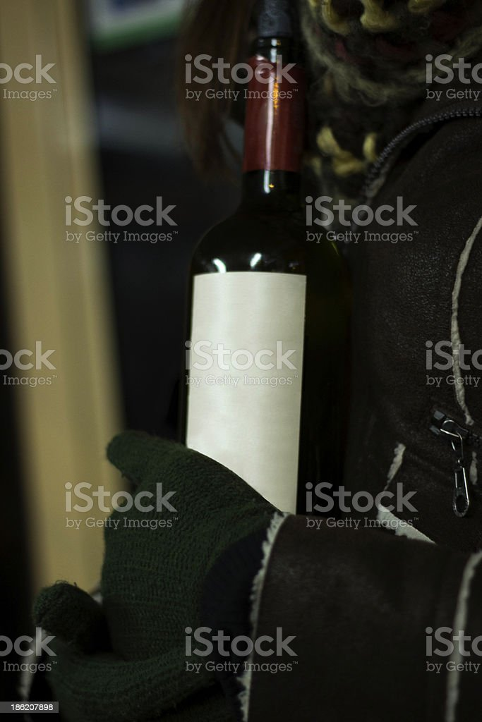 Red winter wine stock photo