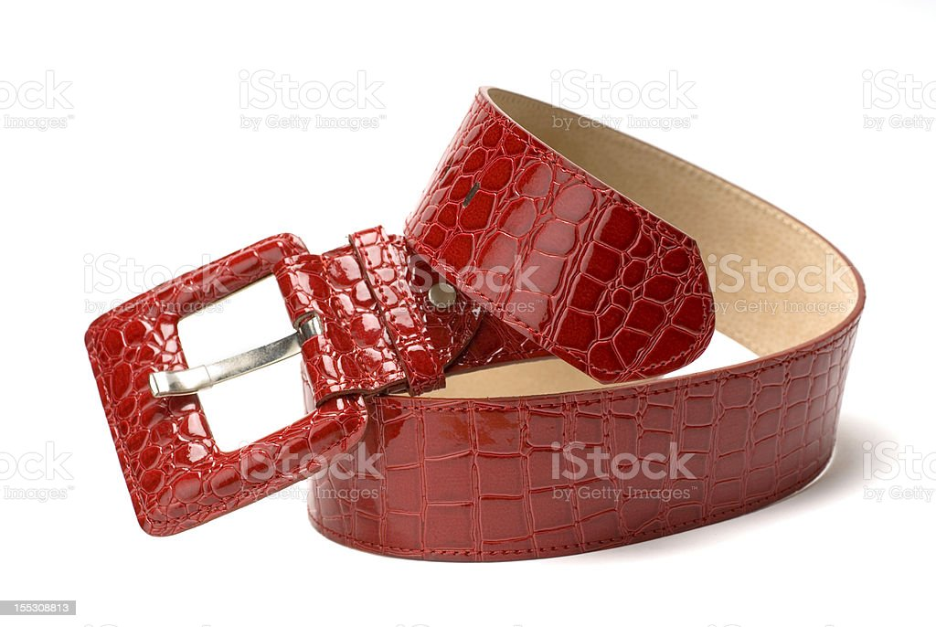 Red woman belt royalty-free stock photo