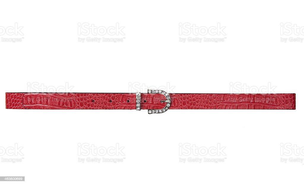 red woman belt stock photo
