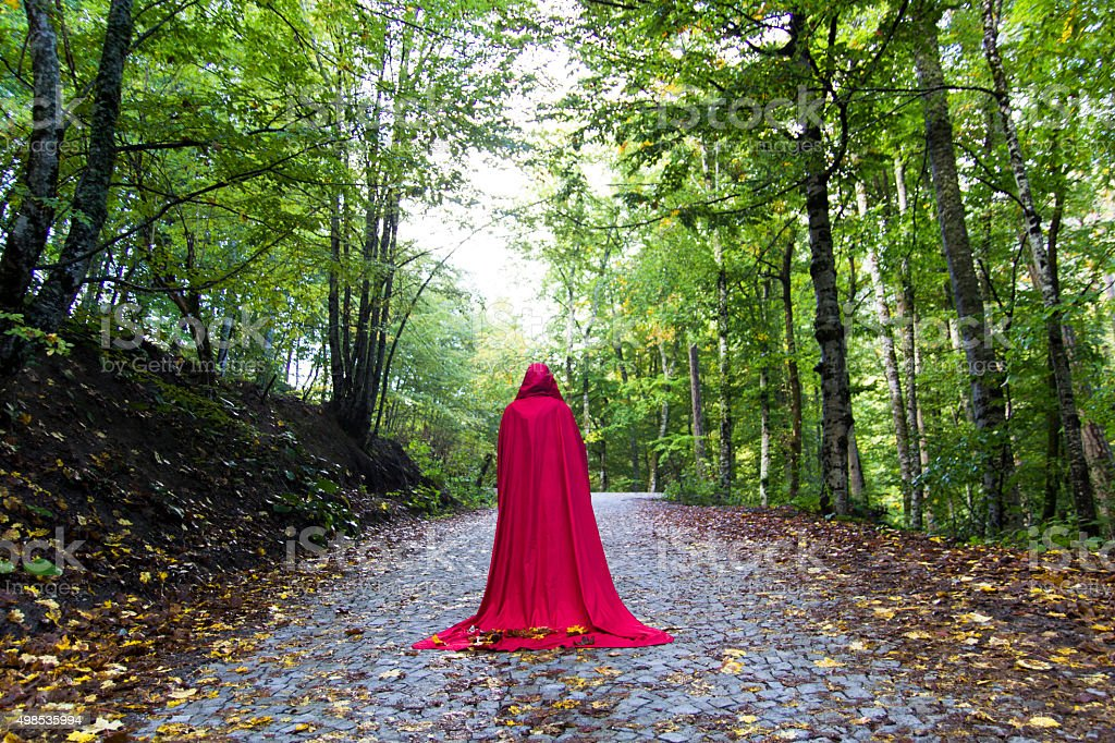 red woman stock photo