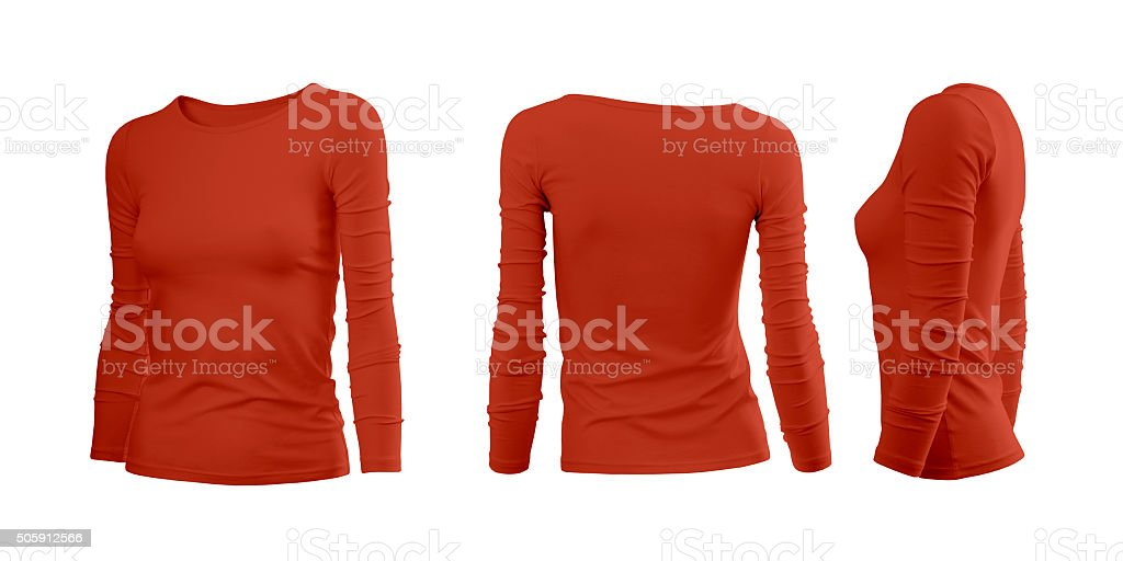 Red woman's T-shirt stock photo
