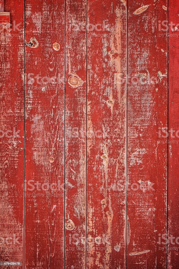 Red Wood Barn Siding Background stock photo