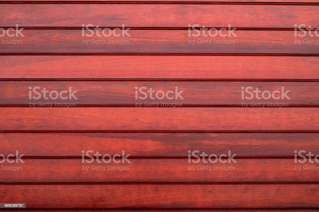 Horizontal Wood Fence Texture red wood planks horizontal wall pattern background stock photo