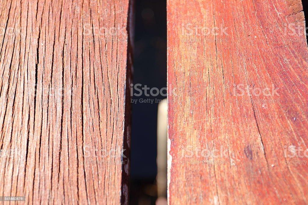 Red wooden bridge stock photo