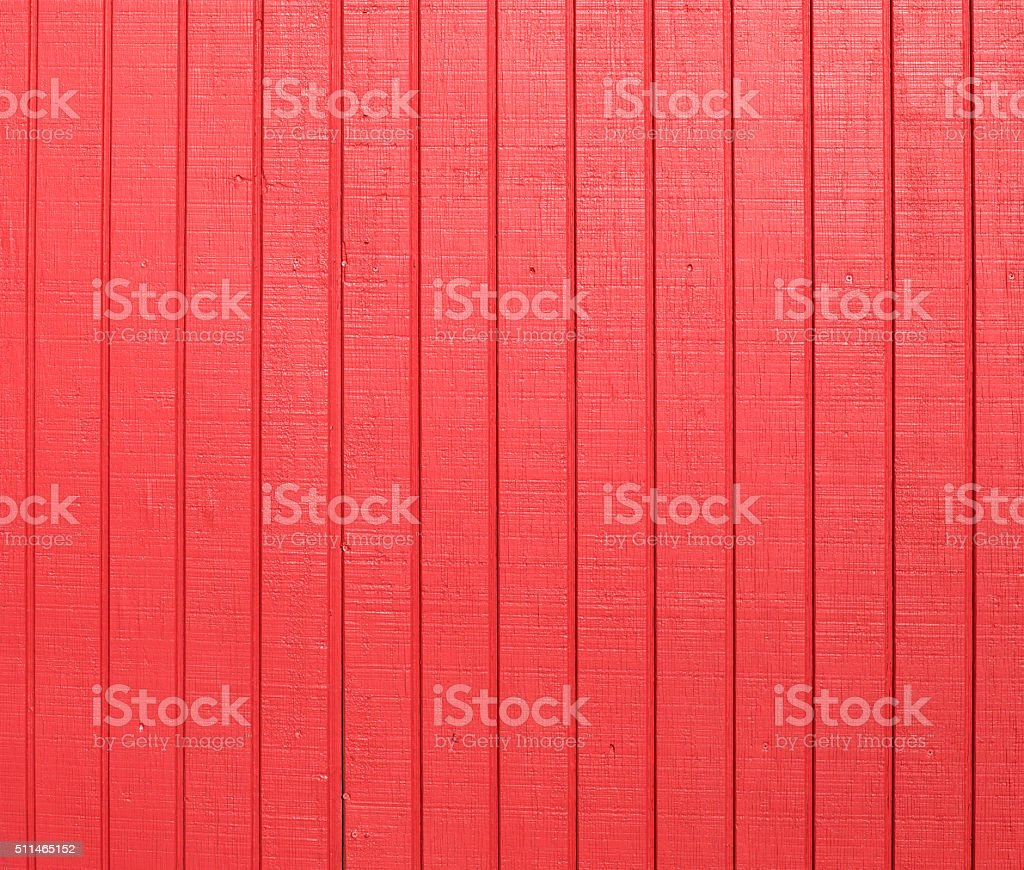 Red wooden panels stock photo
