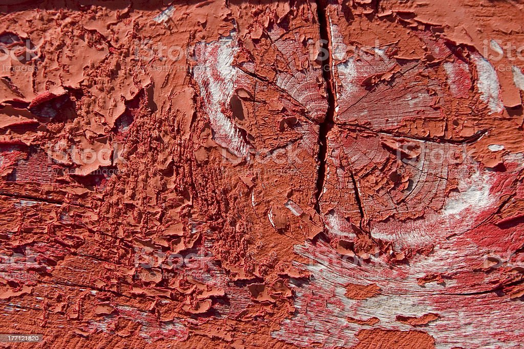 red wooden with grunge paint royalty-free stock photo