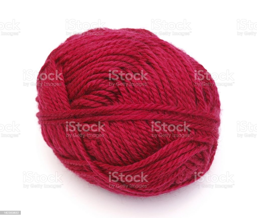 red wool stock photo