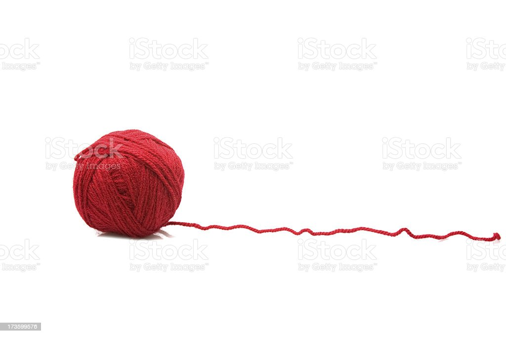 red wools royalty-free stock photo