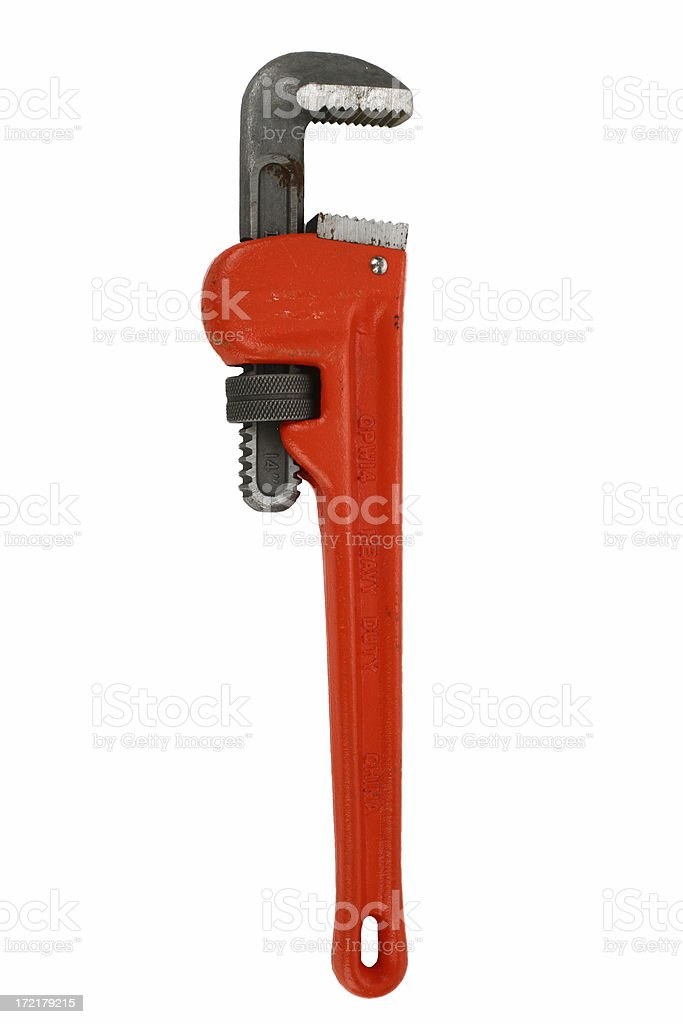 Red Wrench royalty-free stock photo