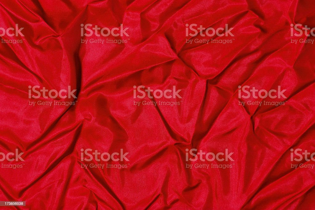 red wrinkled satin background royalty-free stock photo