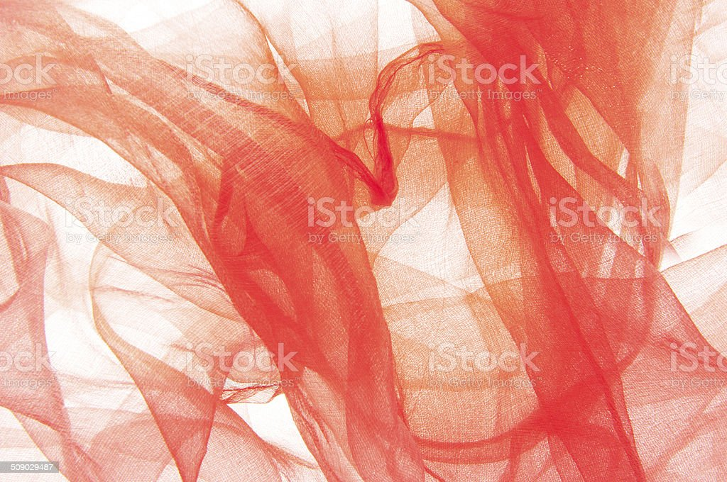 Red yarn background stock photo