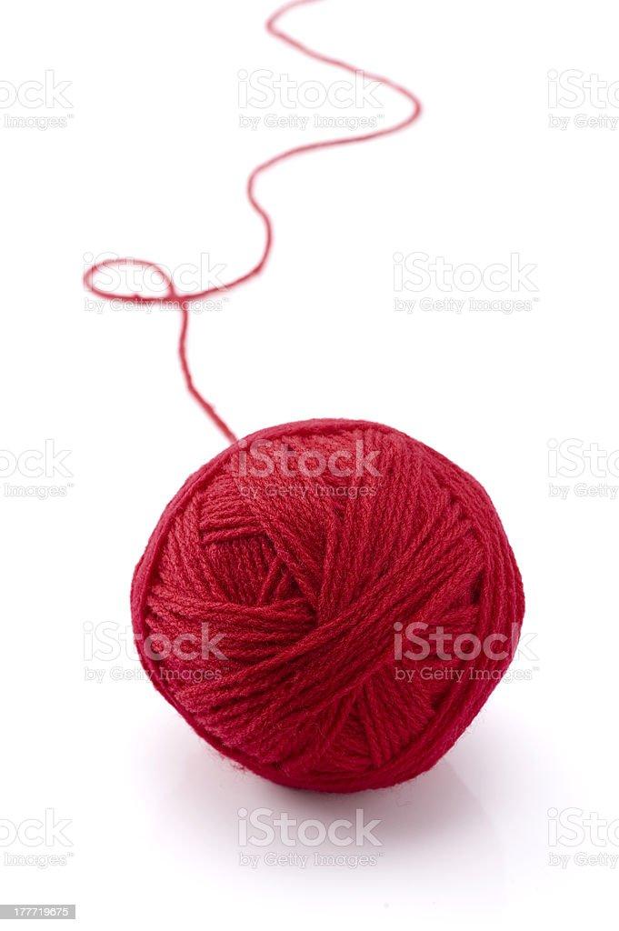 red yarn stock photo