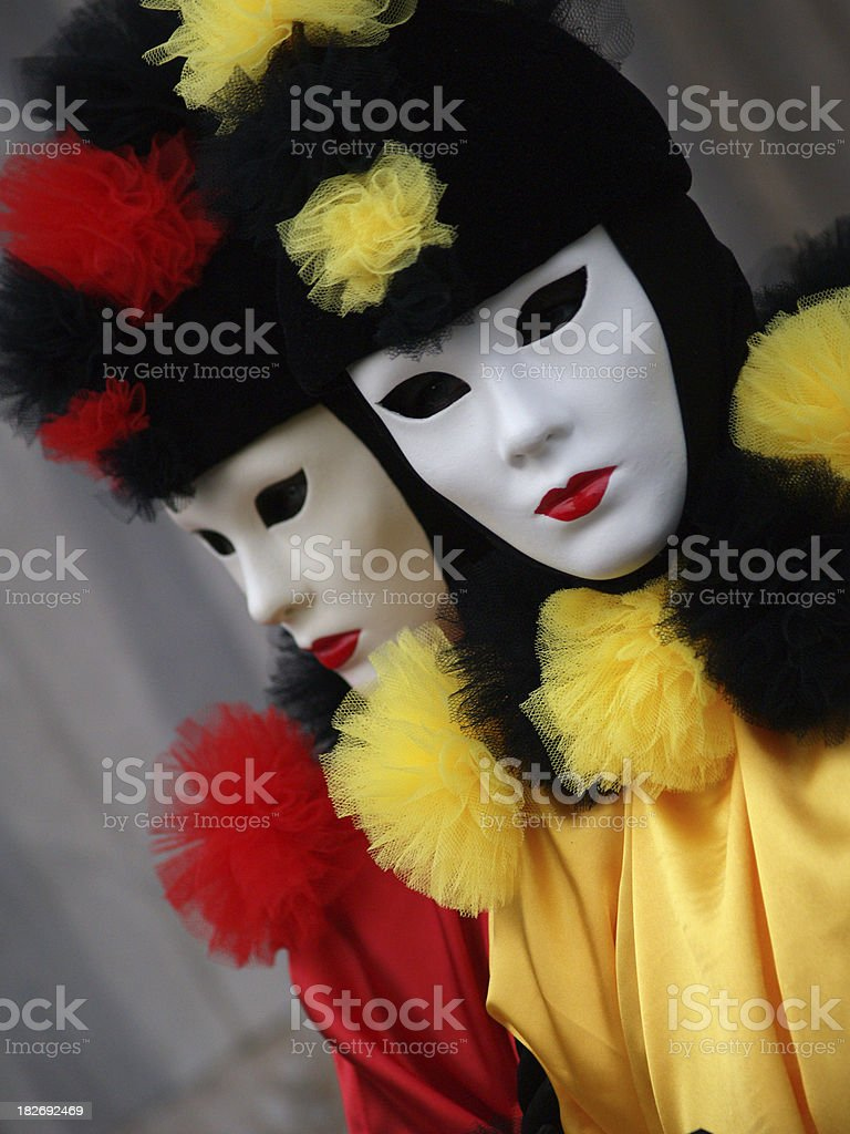 Red & Yellow; Carnival in Venice. royalty-free stock photo