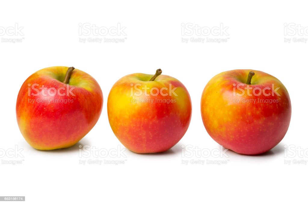 Red yellow colorful apples stock photo