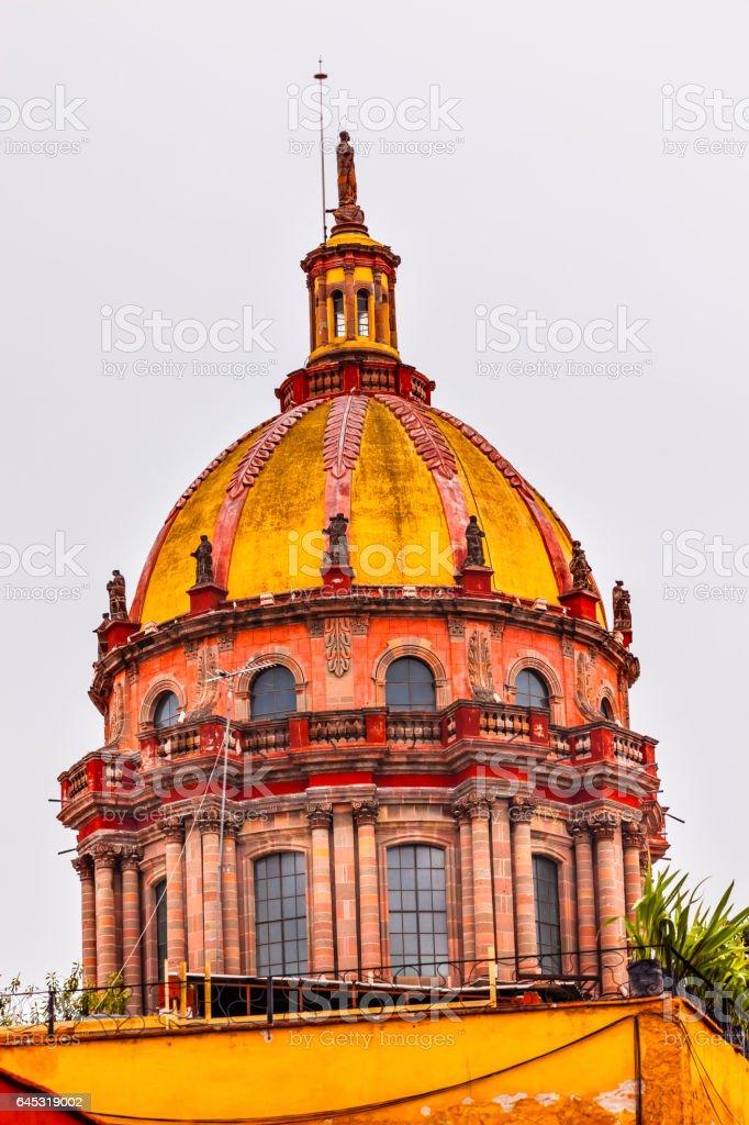 Red Yellow Dome Nuns San Miguel de Allende Mexico stock photo