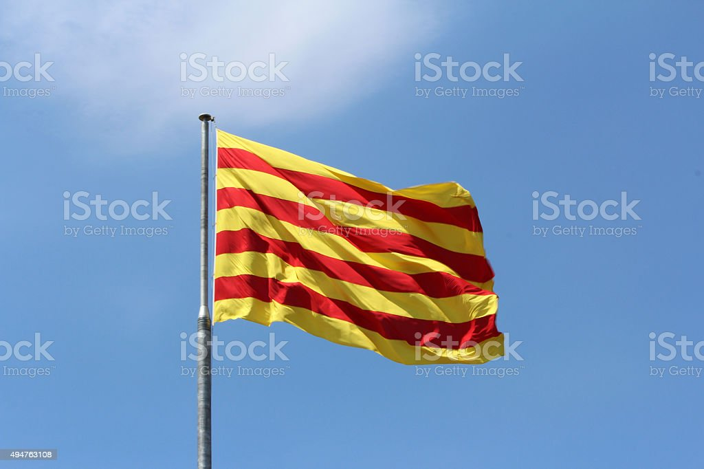 Red Yellow Flag Background stock photo