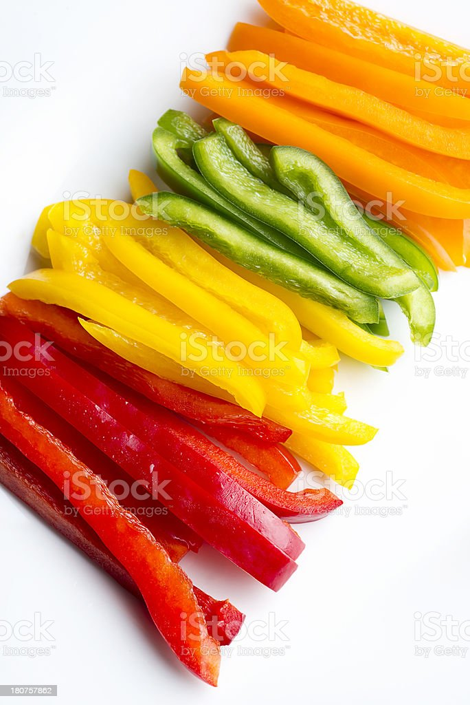 Red Yellow Green Pepper royalty-free stock photo