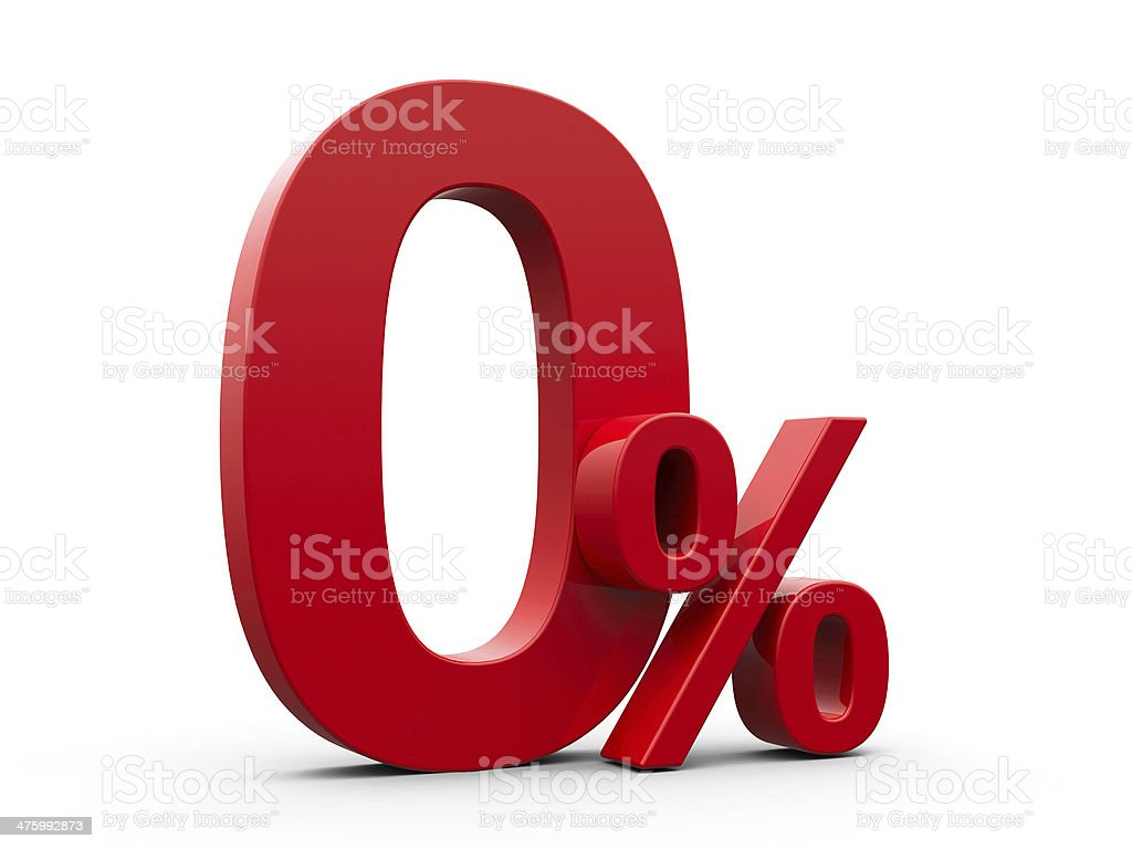 Red Zero Percent stock photo