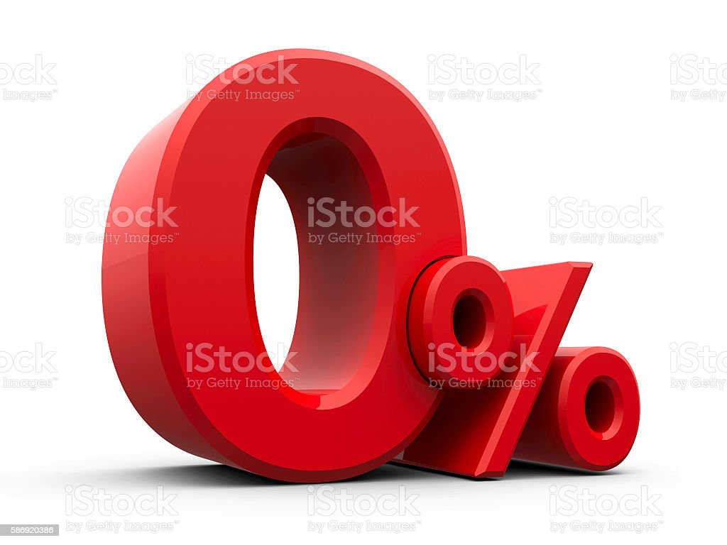 Red Zero Percent #3 stock photo
