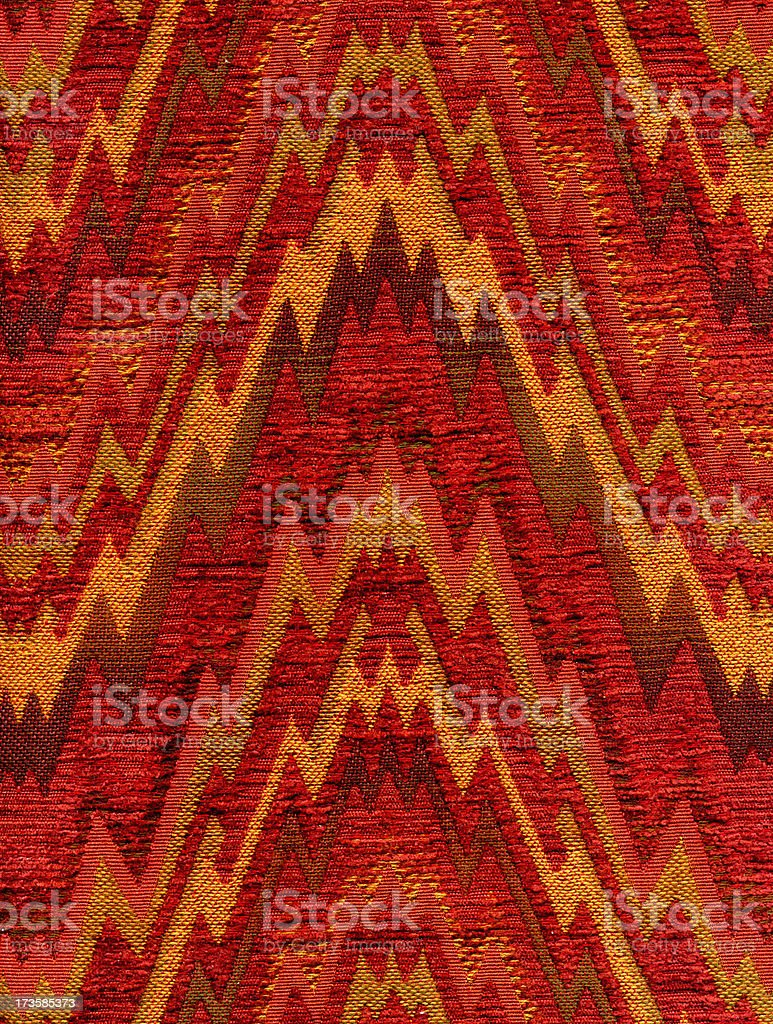 Red Zigzag Fabric royalty-free stock photo