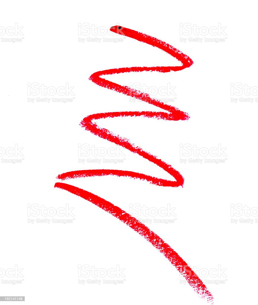Red zigzag royalty-free stock photo