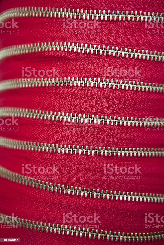 red zipper royalty-free stock photo