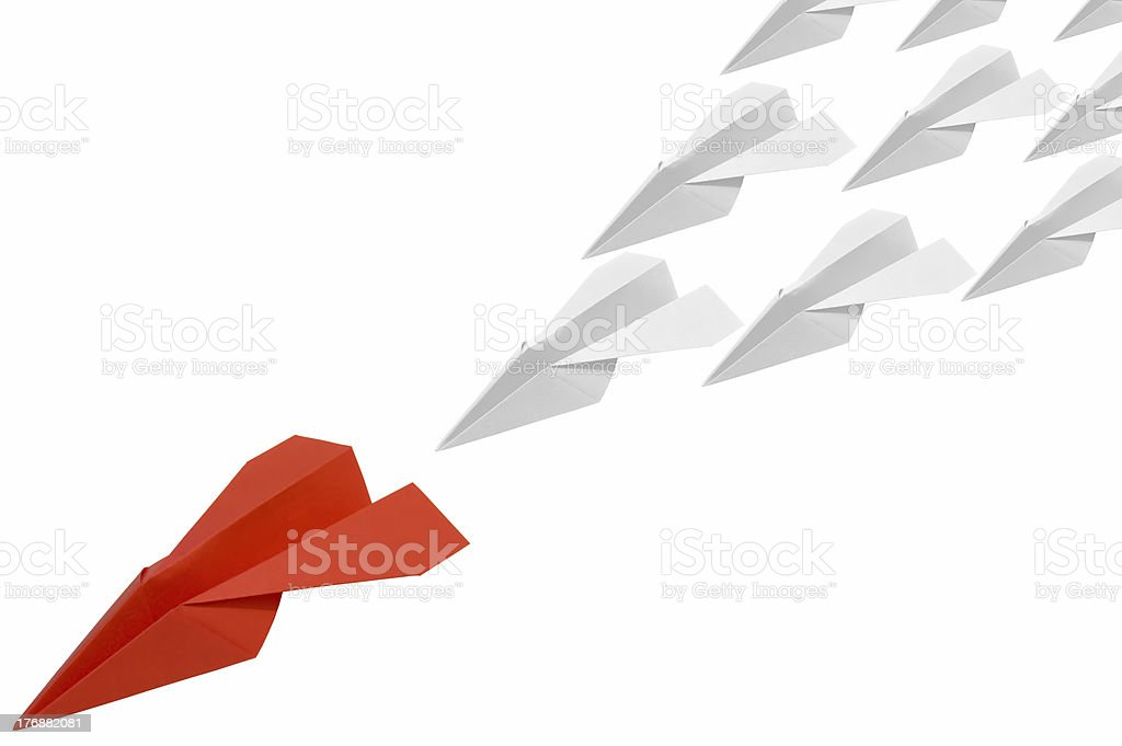 Red_paperplane_4 royalty-free stock photo