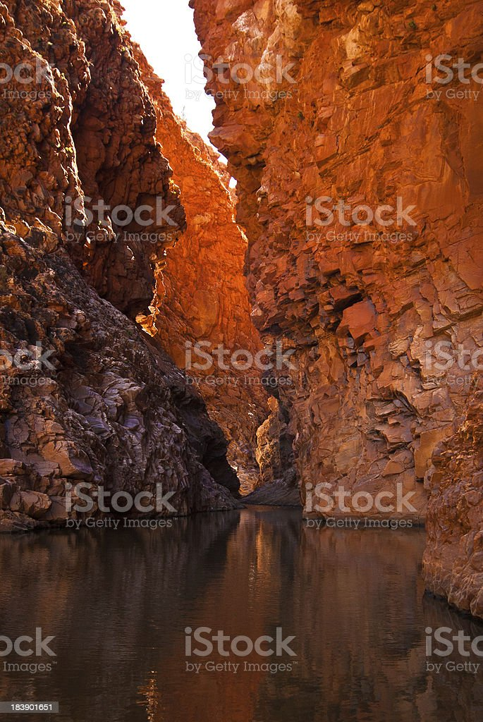 Redbank Gorge waterhole, West MacDonnell Ranges stock photo