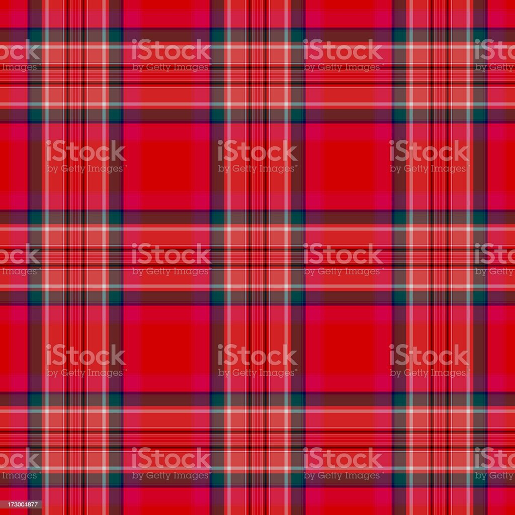 Red-based Irish traditional plaid pattern stock photo