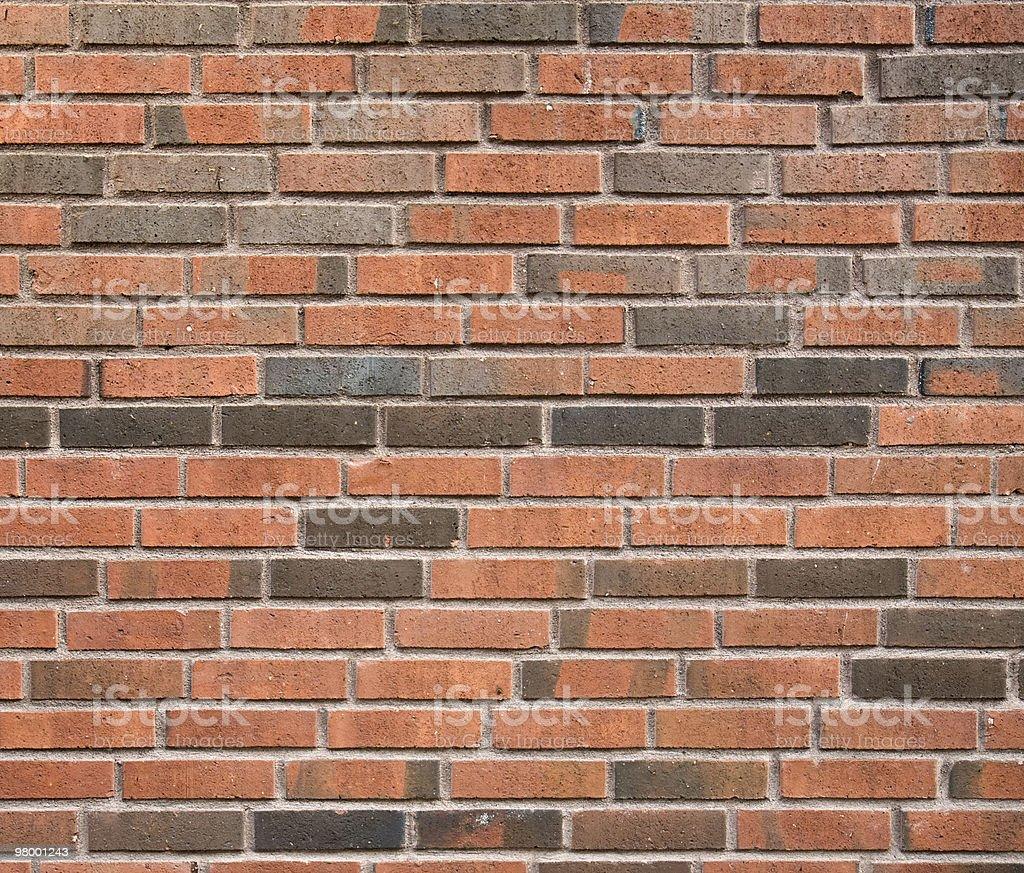 Red/black brick wall stock photo