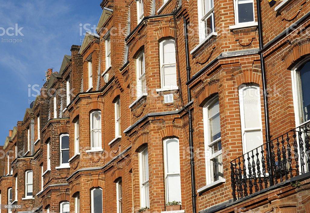 Red-Brick House at London. stock photo