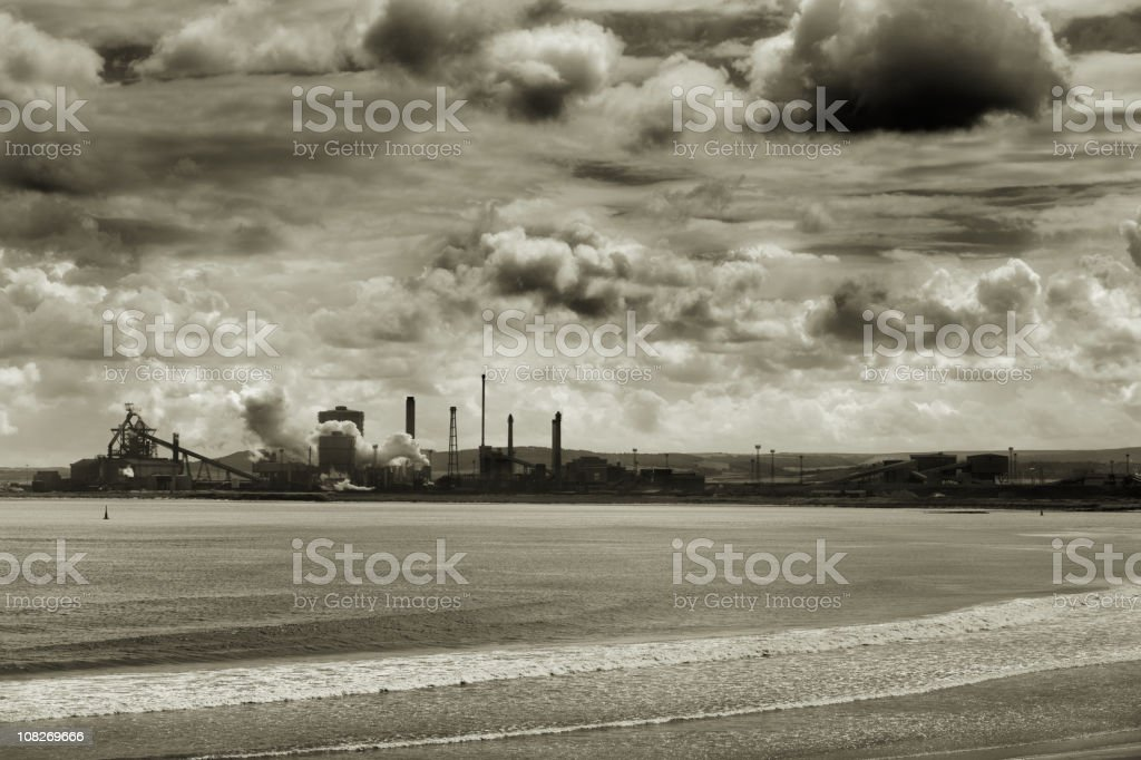 Redcar Steelworks in Teeside England stock photo