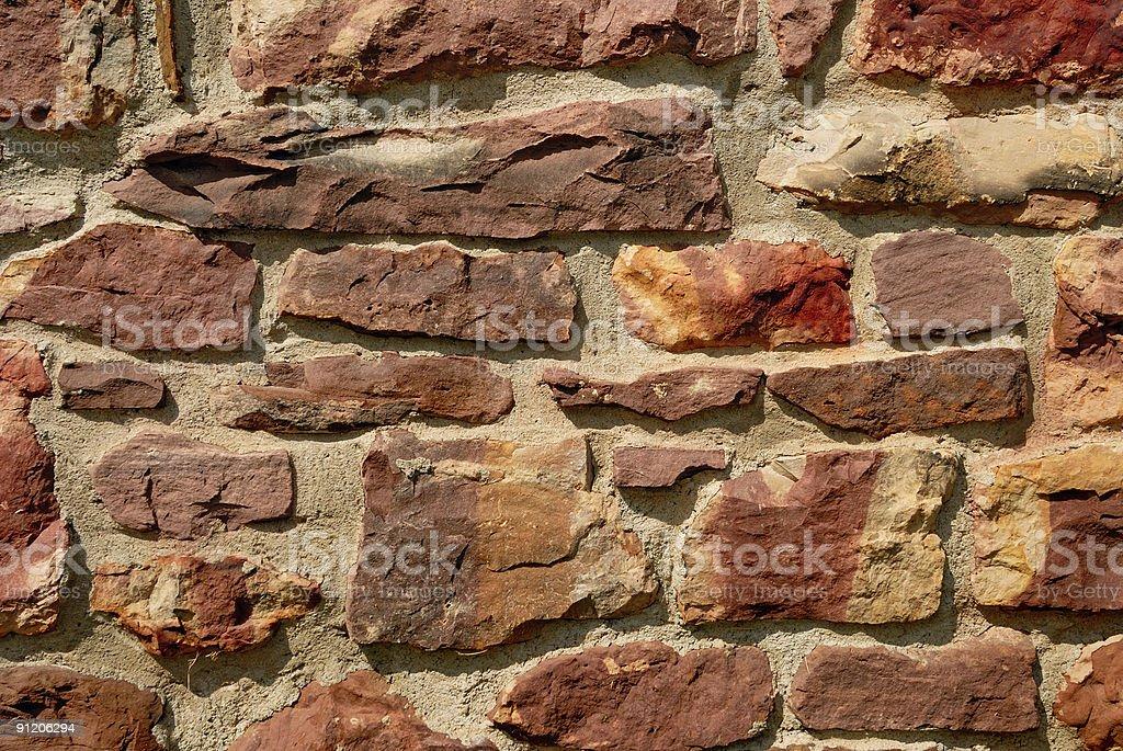 Reddish Rock Wall royalty-free stock photo