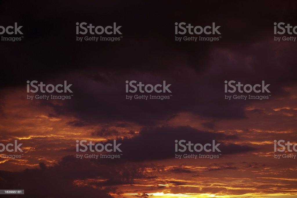 Reddish Sunset Clouds royalty-free stock photo
