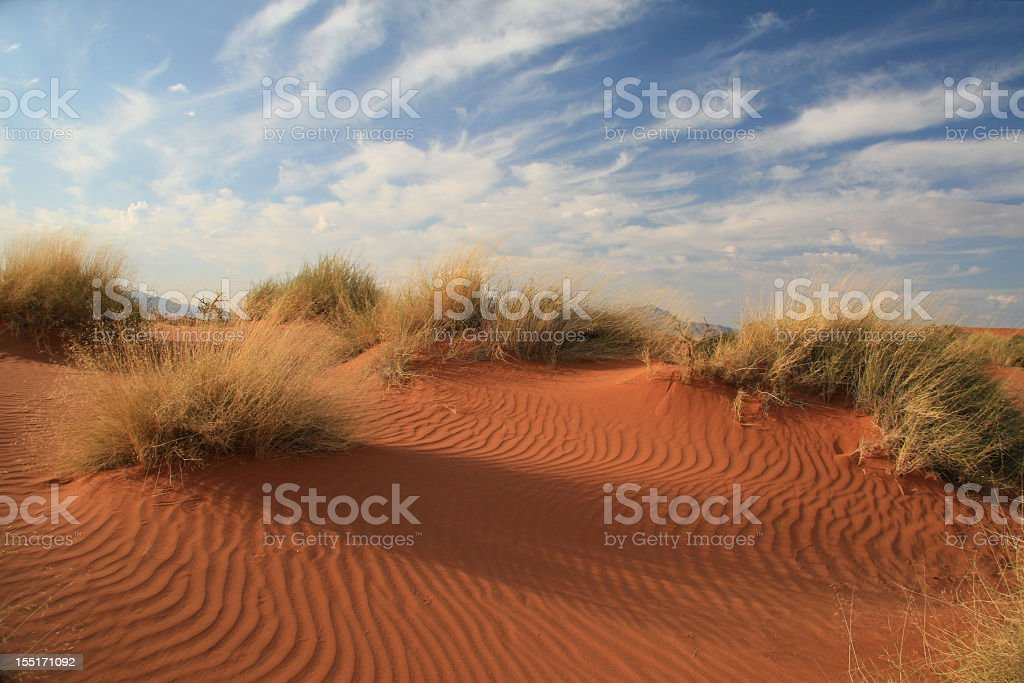 Reddish-toned sand dunes of Namibia stock photo